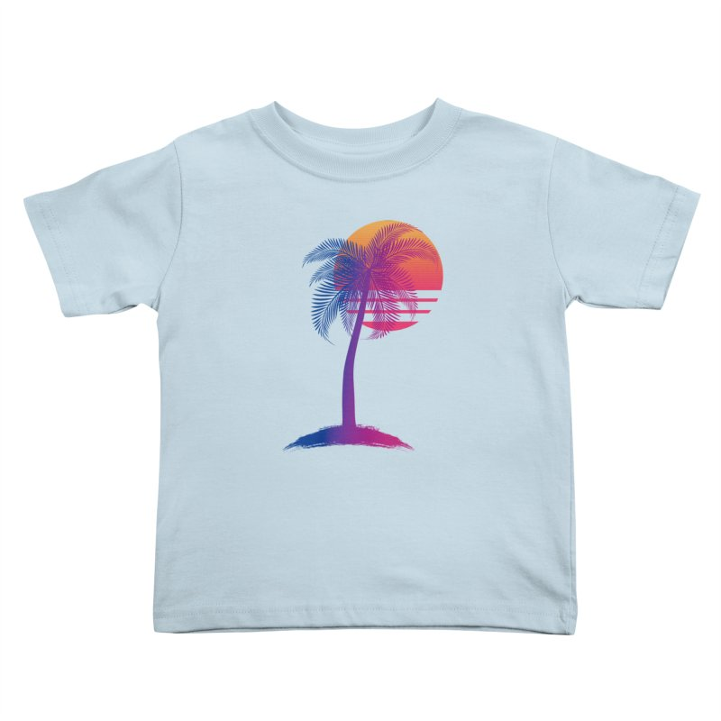Sunset Dreams Kids Toddler T-Shirt by Glitchway Store