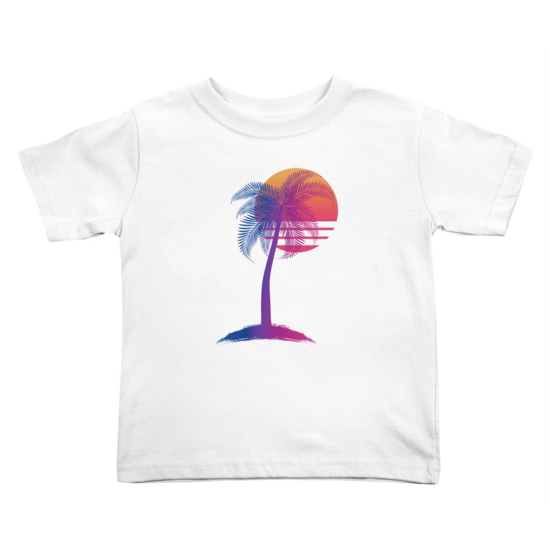 Sunset Dreams Kids Toddler T-Shirt by The Glitchway