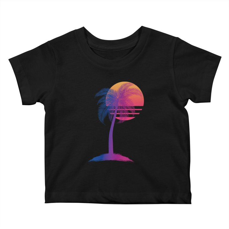 Sunset Dreams Kids Baby T-Shirt by Glitchway Store