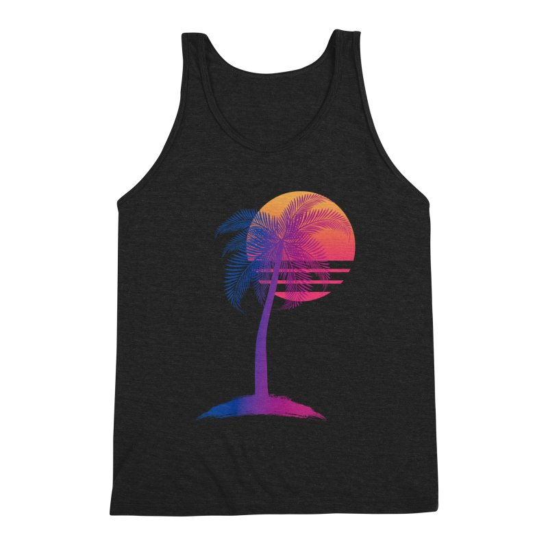 Sunset Dreams Men's Triblend Tank by The Glitchway
