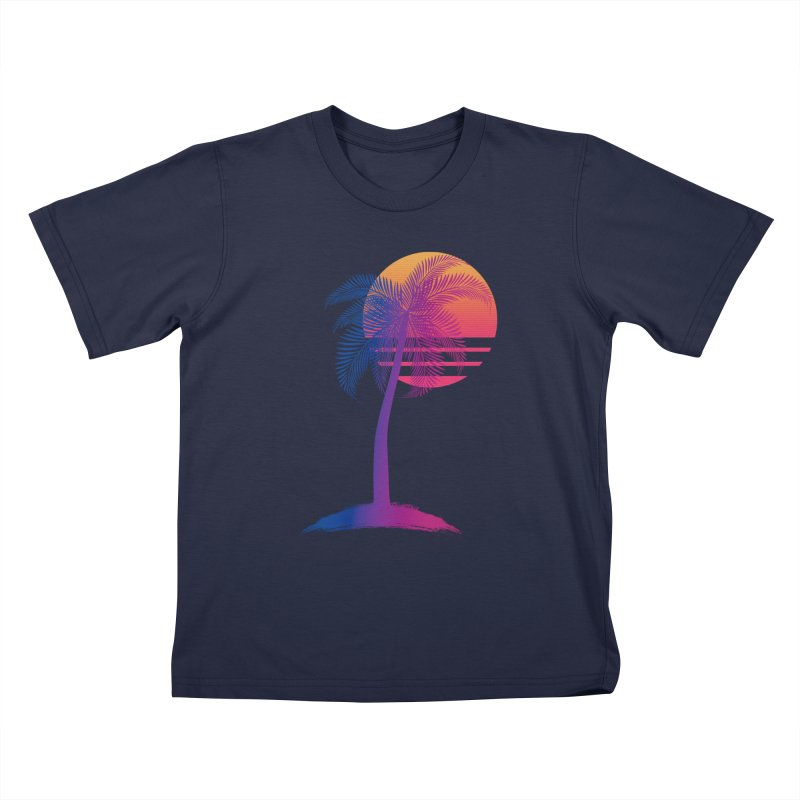 Sunset Dreams Kids T-Shirt by The Glitchway