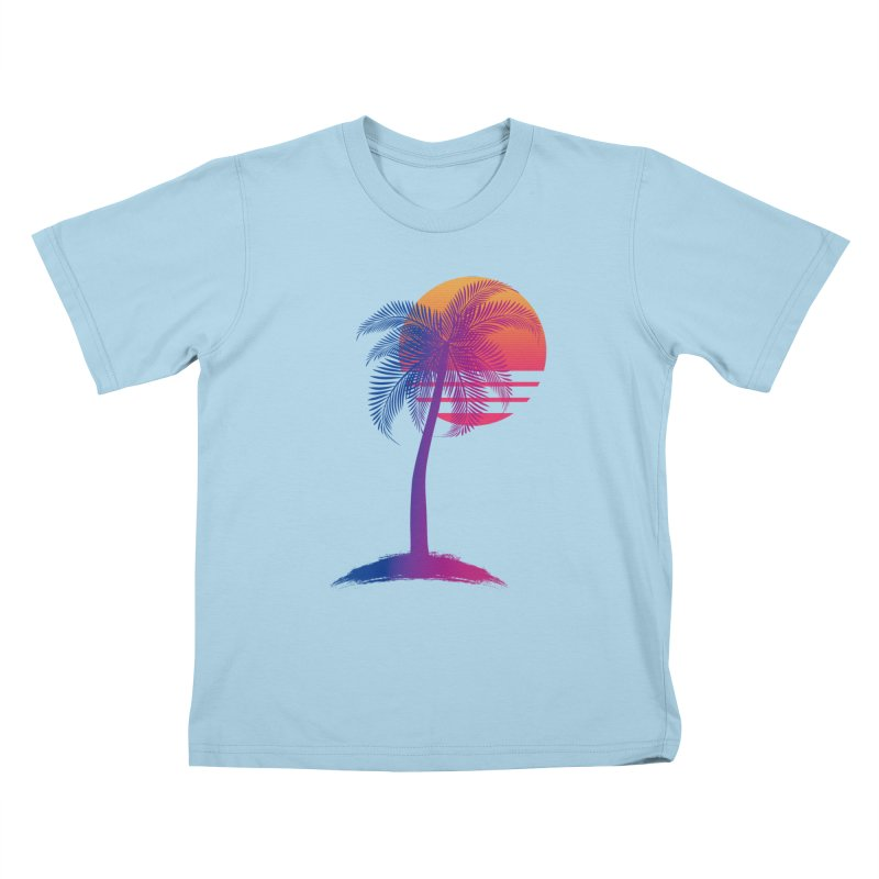 Sunset Dreams Kids T-Shirt by Glitchway Store