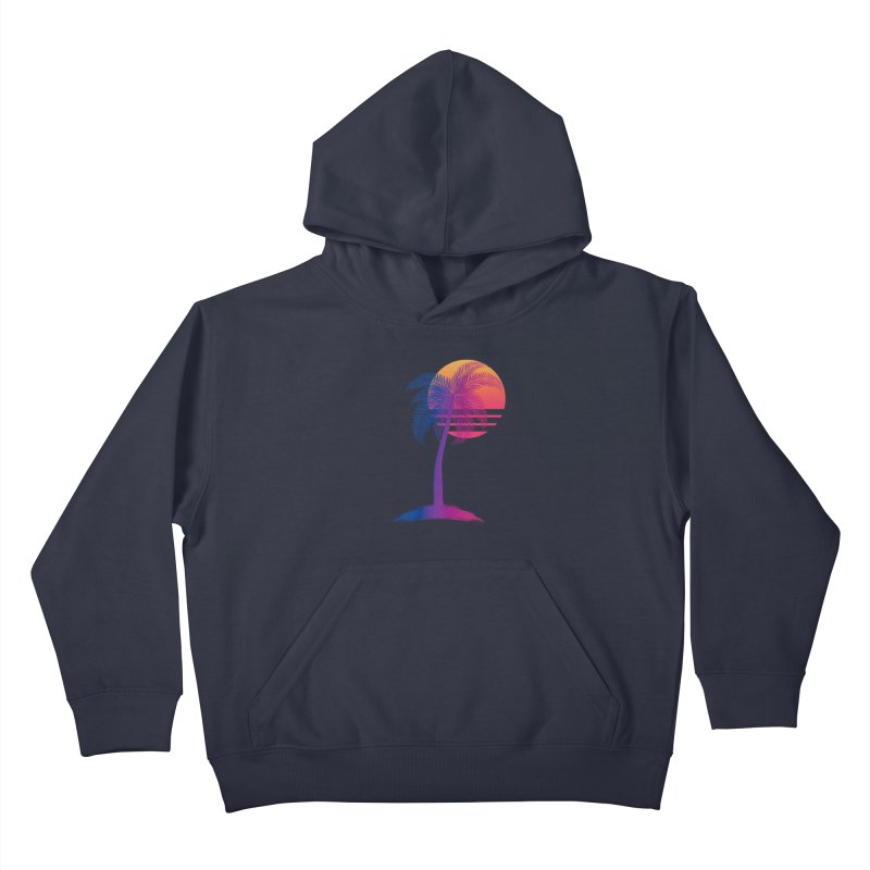 Sunset Dreams Kids Pullover Hoody by Glitchway Store
