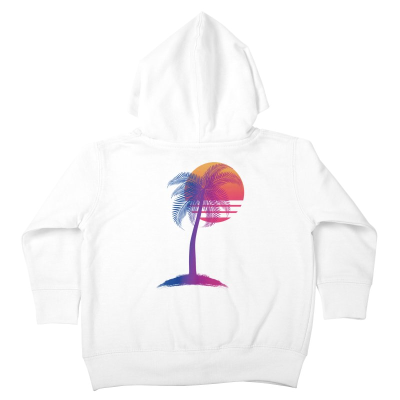 Sunset Dreams Kids Toddler Zip-Up Hoody by Glitchway Store