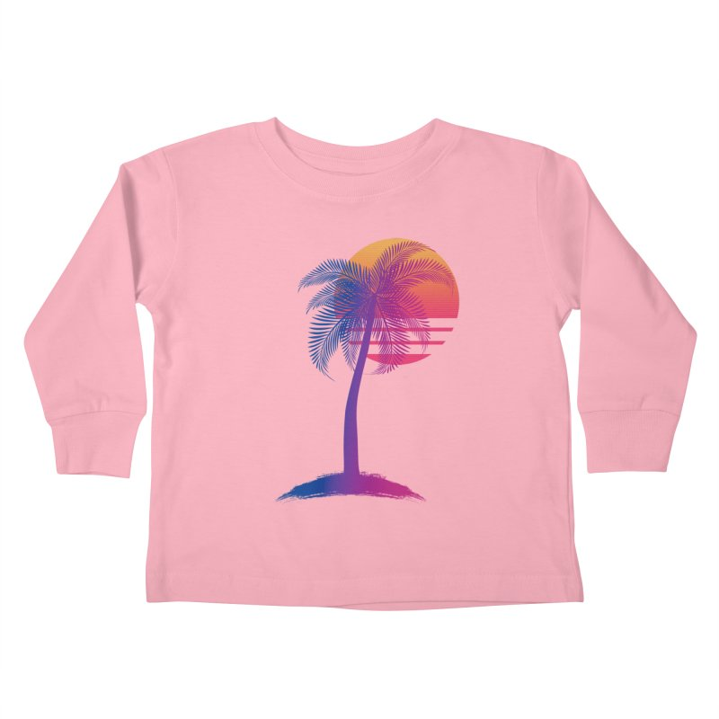 Sunset Dreams Kids Toddler Longsleeve T-Shirt by Glitchway Store