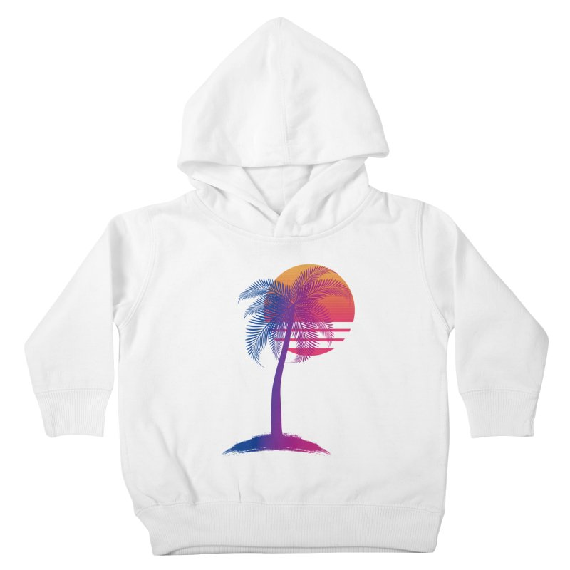 Sunset Dreams Kids Toddler Pullover Hoody by Glitchway Store