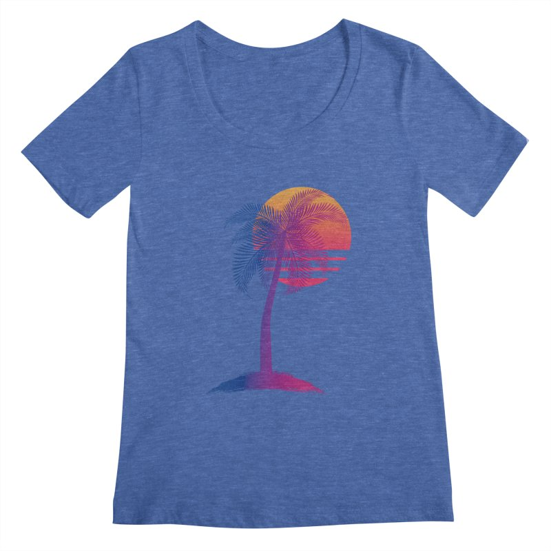 Sunset Dreams Women's Scoopneck by Glitchway Store