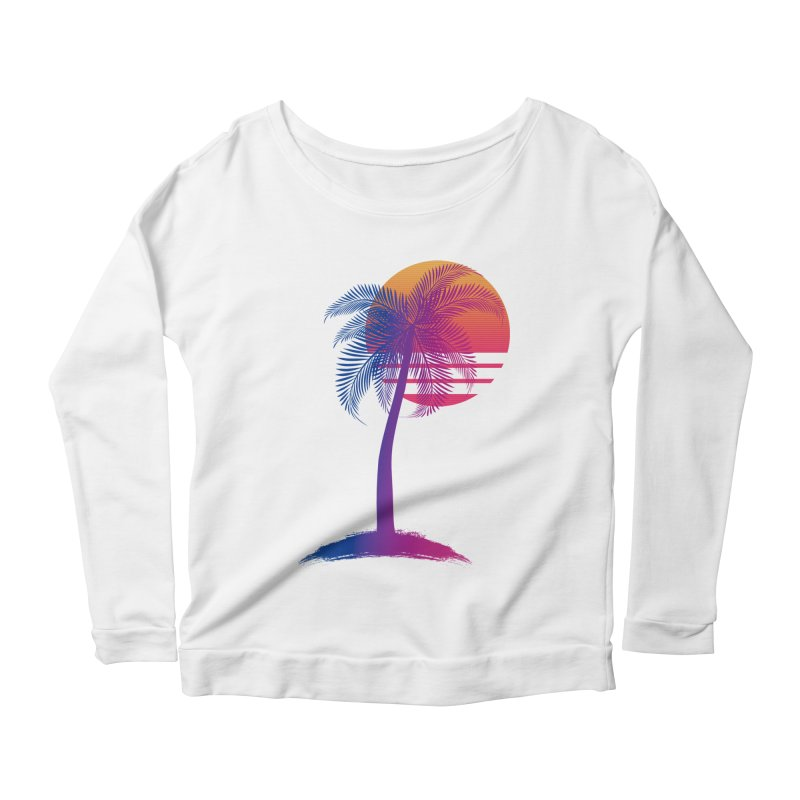 Sunset Dreams Women's Scoop Neck Longsleeve T-Shirt by The Glitchway