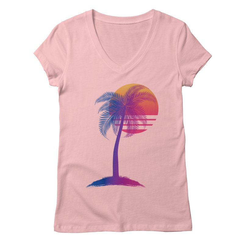 Sunset Dreams Women's V-Neck by Glitchway Store