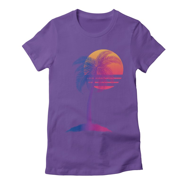 Sunset Dreams Women's Fitted T-Shirt by Glitchway Store