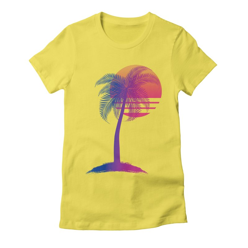Sunset Dreams Women's Fitted T-Shirt by The Glitchway
