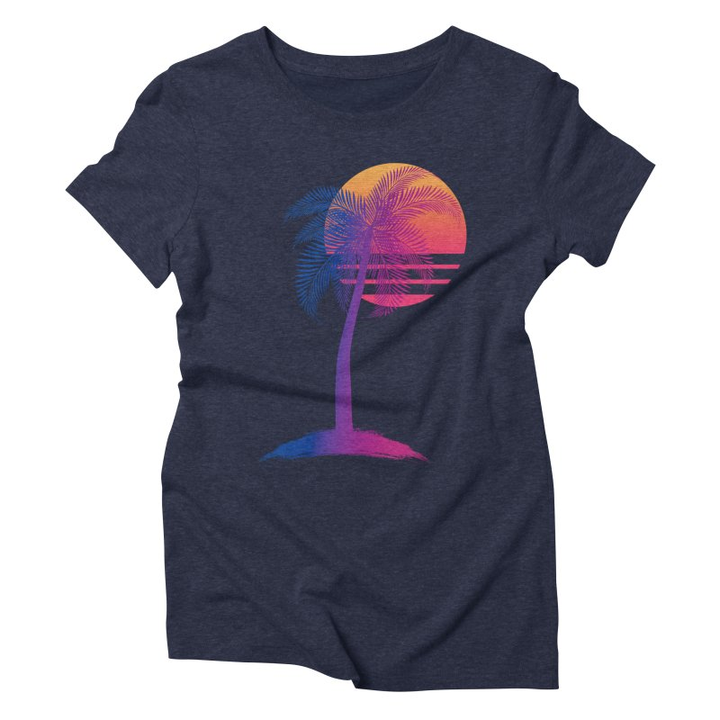Sunset Dreams Women's Triblend T-Shirt by The Glitchway