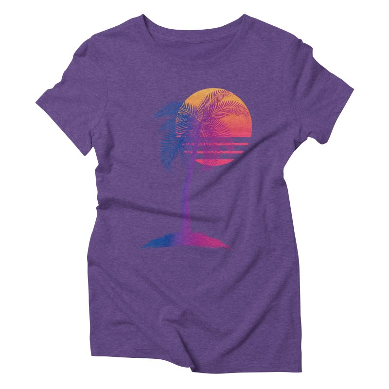 Sunset Dreams Women's Triblend T-Shirt by Glitchway Store