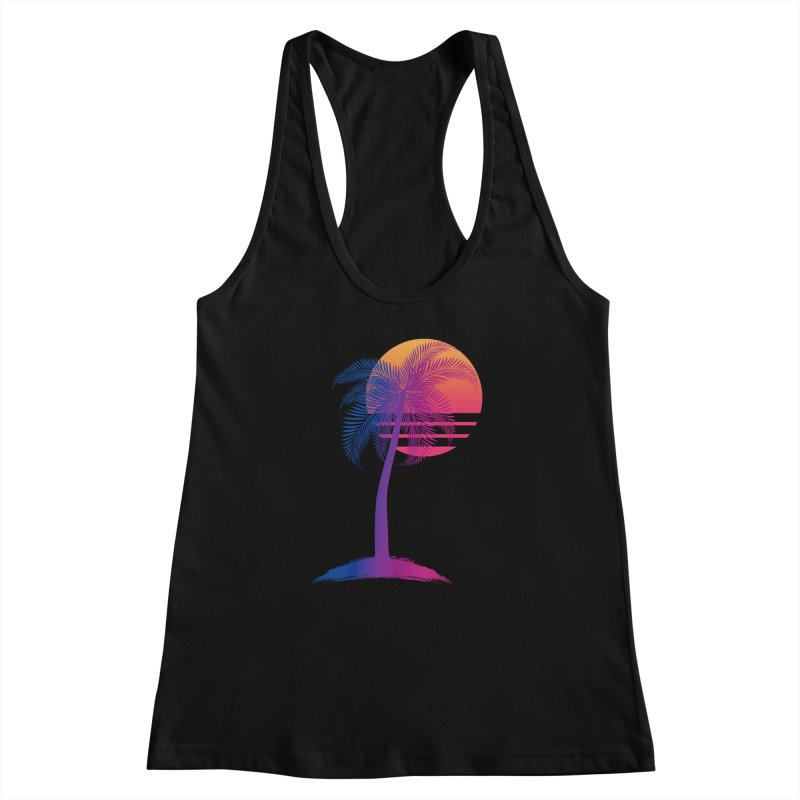 Sunset Dreams Women's Racerback Tank by Glitchway Store