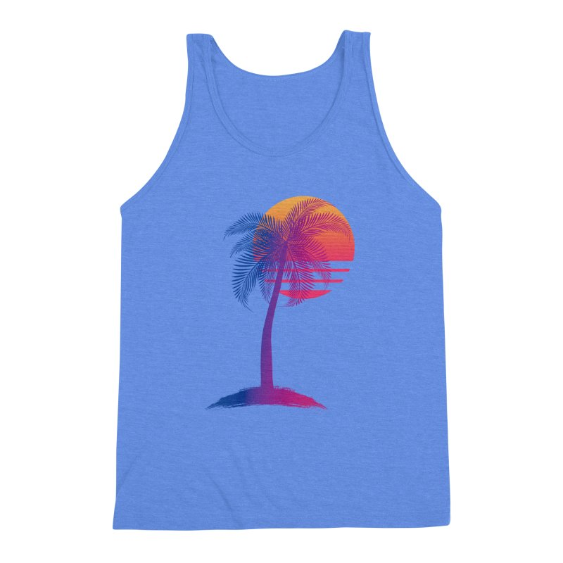 Sunset Dreams Men's Triblend Tank by Glitchway Store