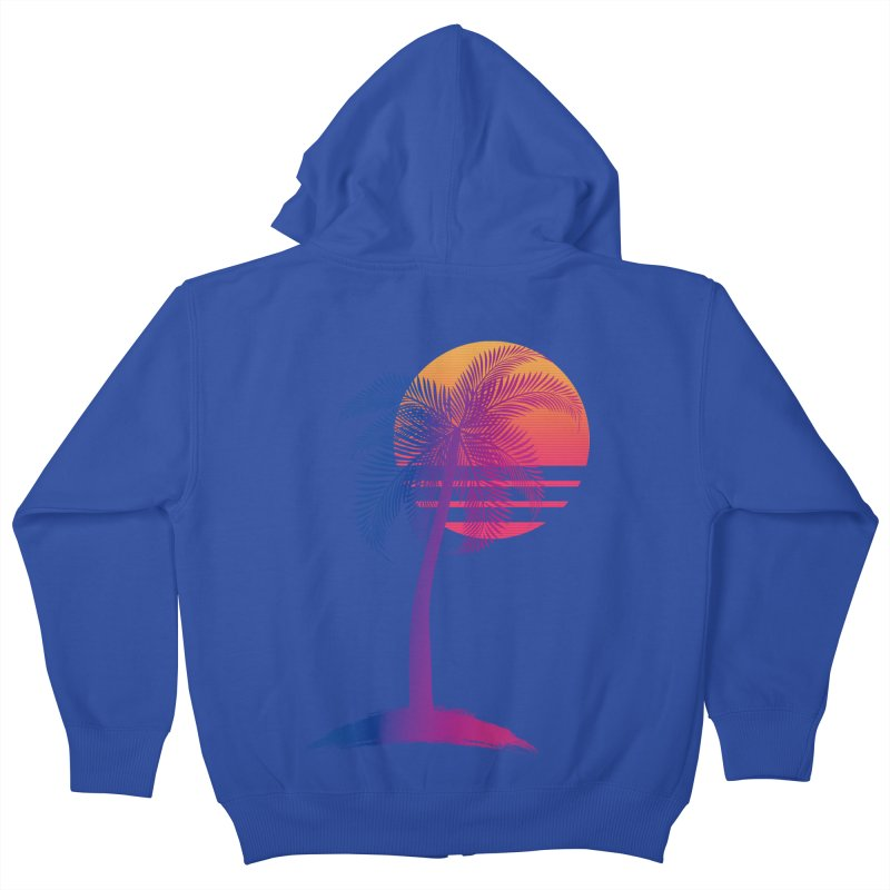 Sunset Dreams Kids Zip-Up Hoody by Glitchway Store