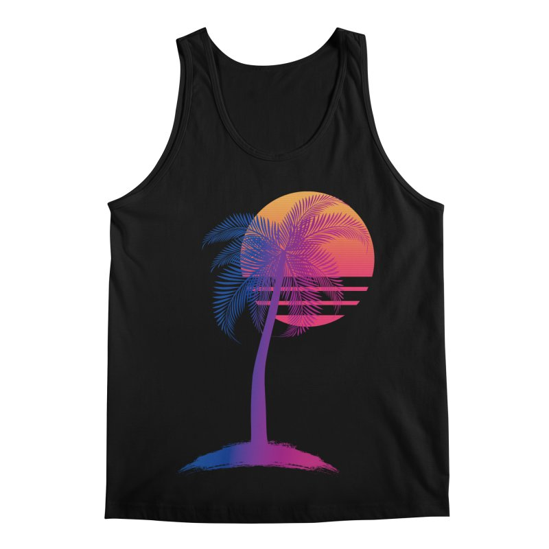 Sunset Dreams Men's Regular Tank by The Glitchway