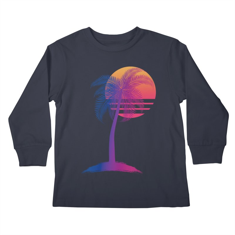 Sunset Dreams Kids Longsleeve T-Shirt by The Glitchway