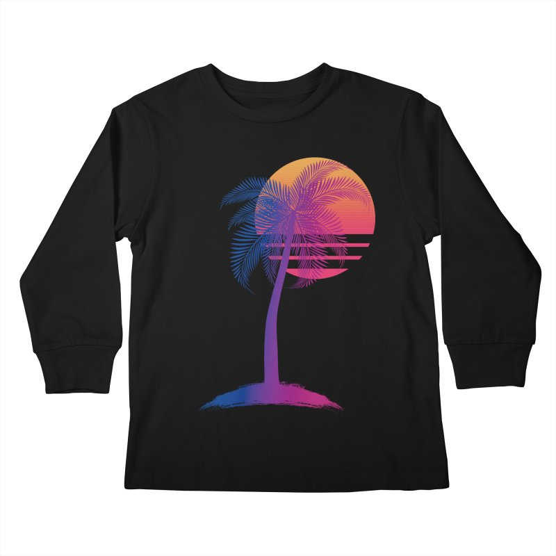 Sunset Dreams Kids Longsleeve T-Shirt by Glitchway Store