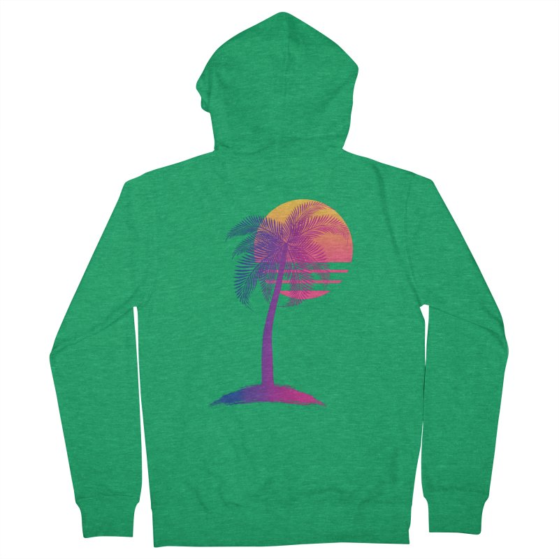 Sunset Dreams Women's Zip-Up Hoody by The Glitchway