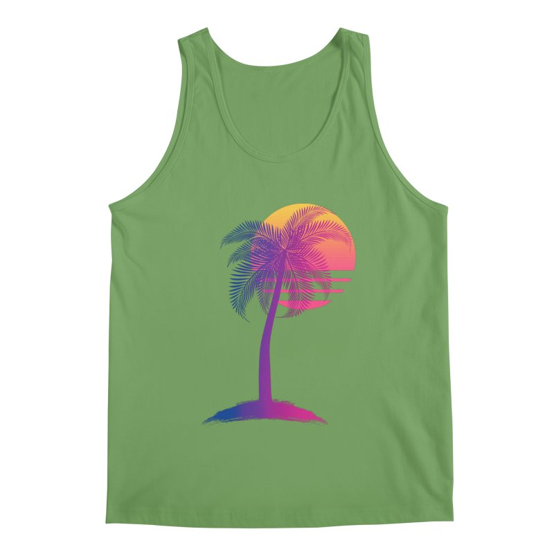 Sunset Dreams Men's Tank by The Glitchway