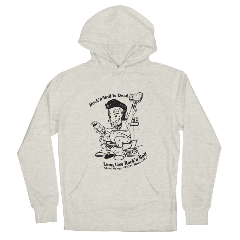 Global Garage Zombie Elvis Men's French Terry Pullover Hoody by Global Garage