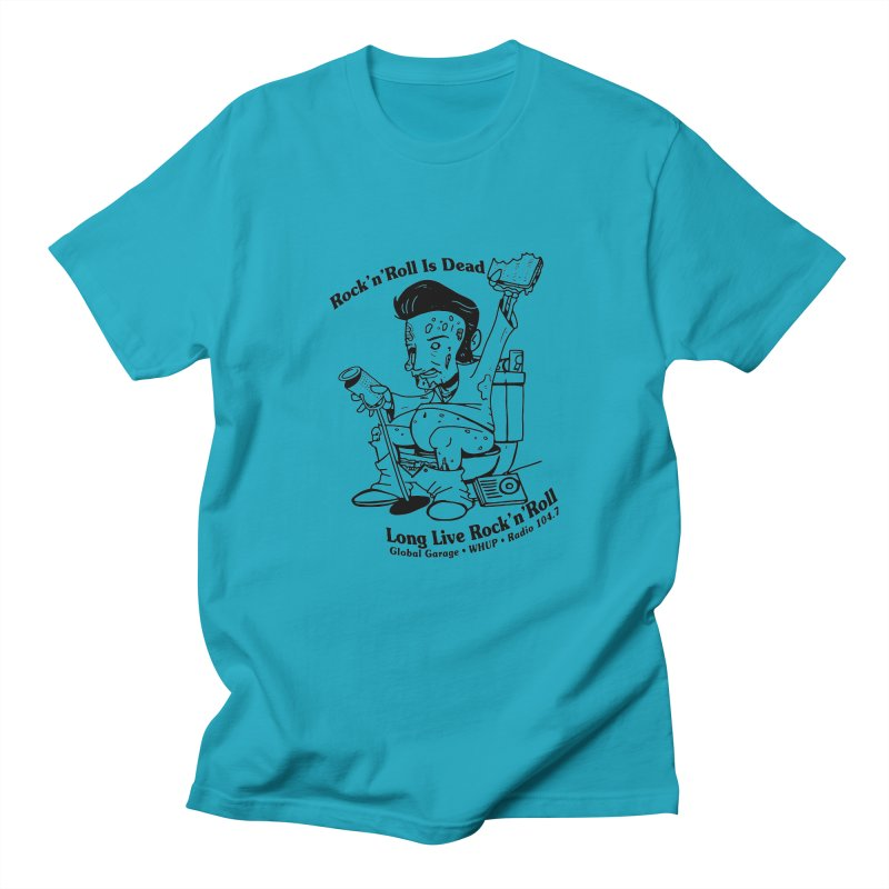 Global Garage Zombie Elvis Men's Regular T-Shirt by Global Garage