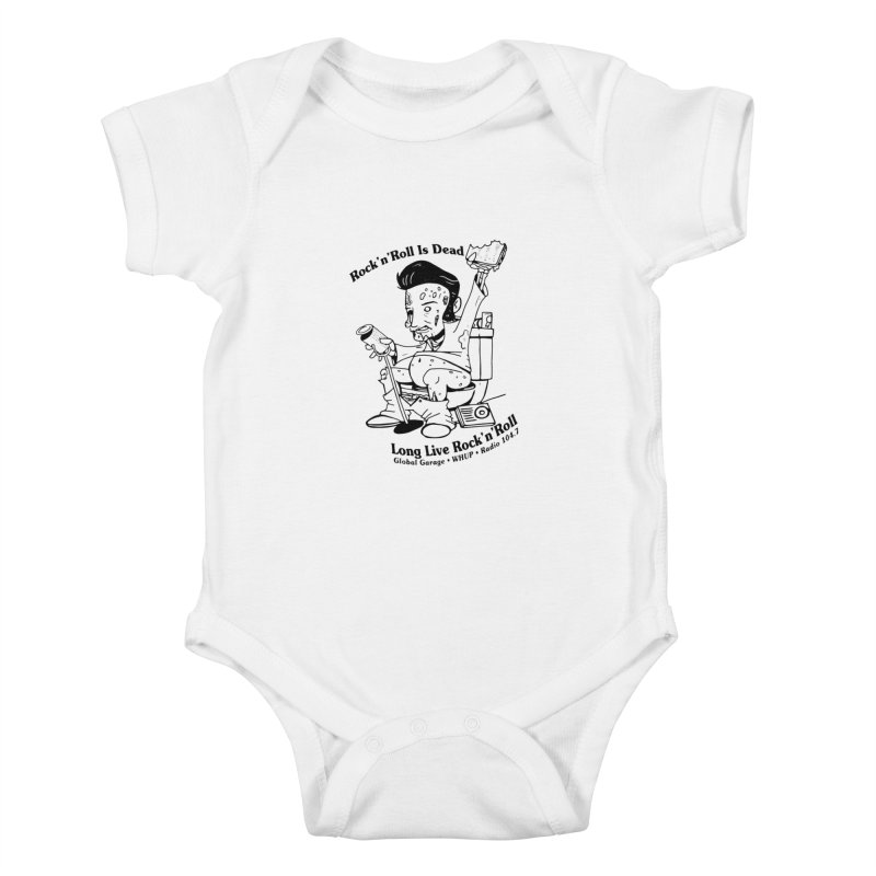 Global Garage Zombie Elvis Kids Baby Bodysuit by Global Garage