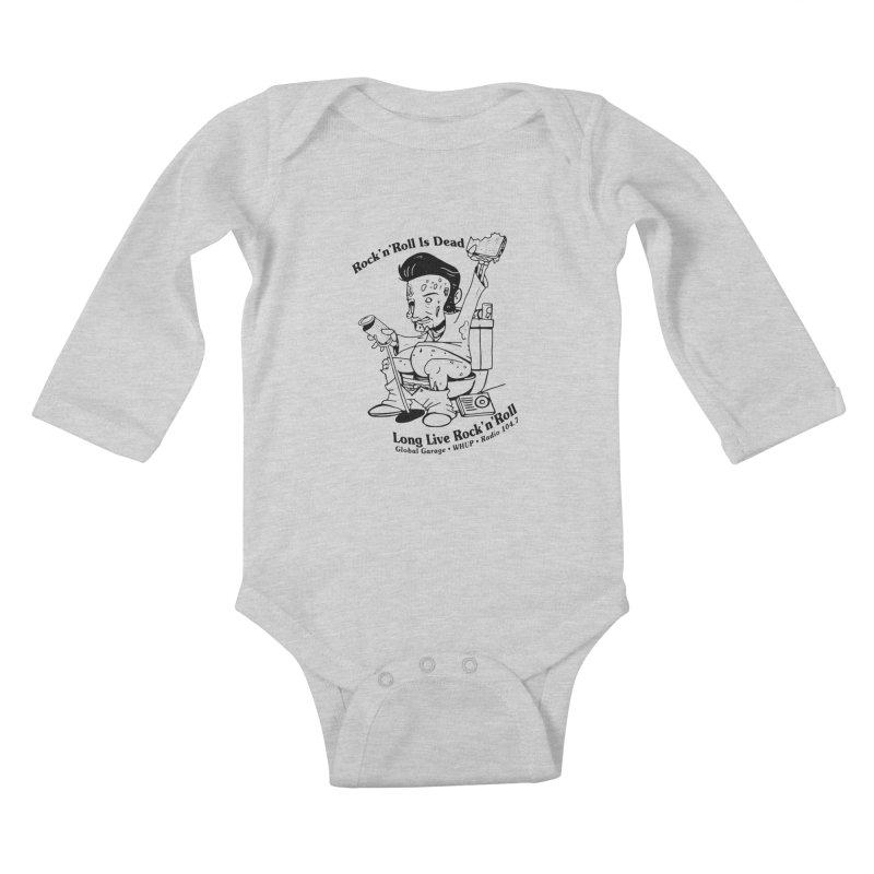 Global Garage Zombie Elvis Kids Baby Longsleeve Bodysuit by Global Garage