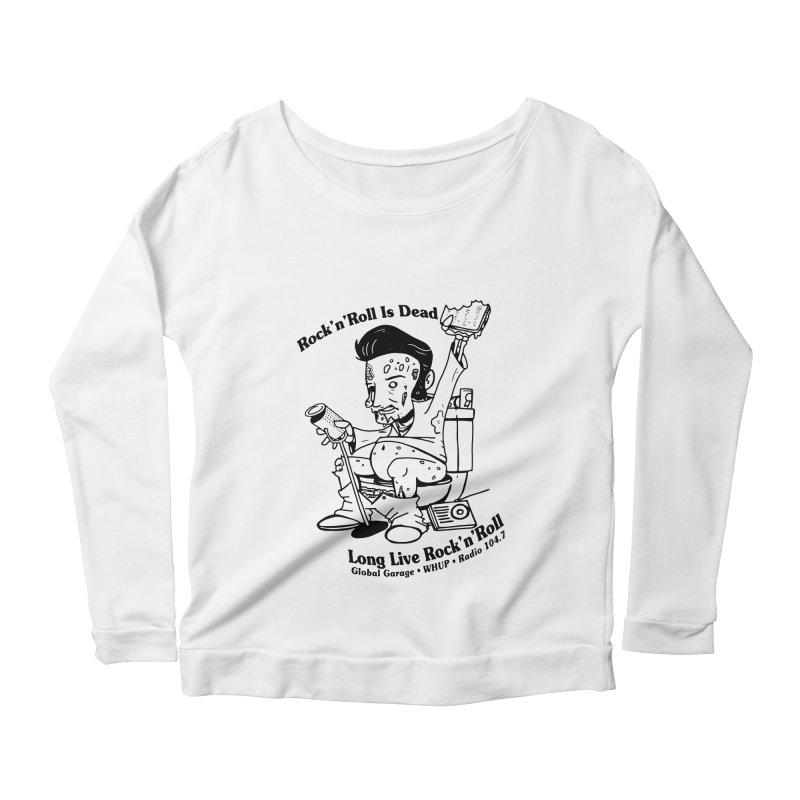 Global Garage Zombie Elvis Women's Scoop Neck Longsleeve T-Shirt by Global Garage