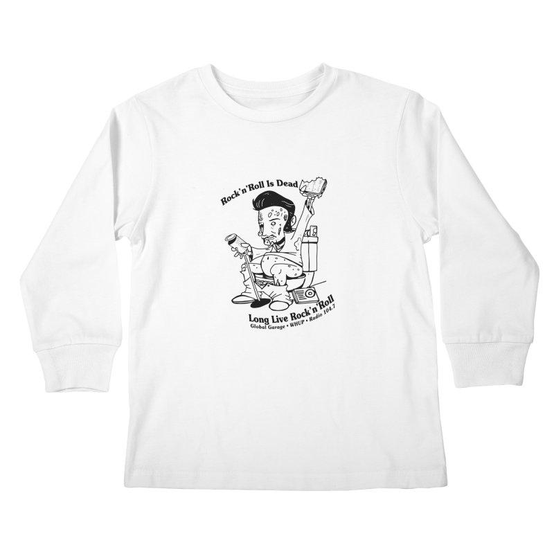 Global Garage Zombie Elvis Kids Longsleeve T-Shirt by Global Garage