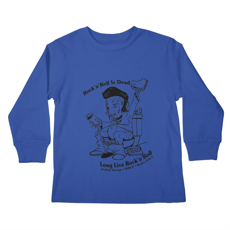 Global Garage Zombie Elvis Kids Longsleeve T-Shirt by Global Garage