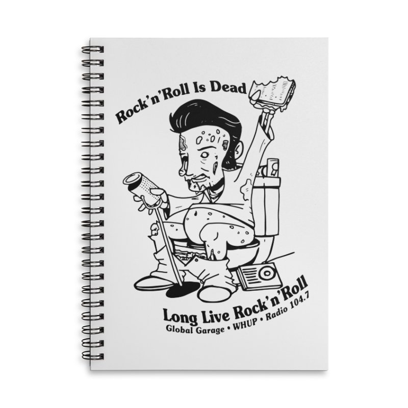 Global Garage Zombie Elvis Accessories Lined Spiral Notebook by Global Garage