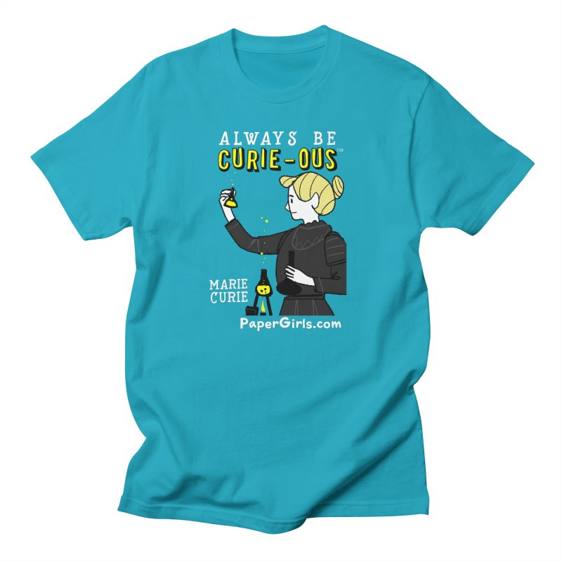 'The Paper Girls Show' Always Be Curie-ous™ Product Line Men's Regular T-Shirt by Global Tinker's Company Shop
