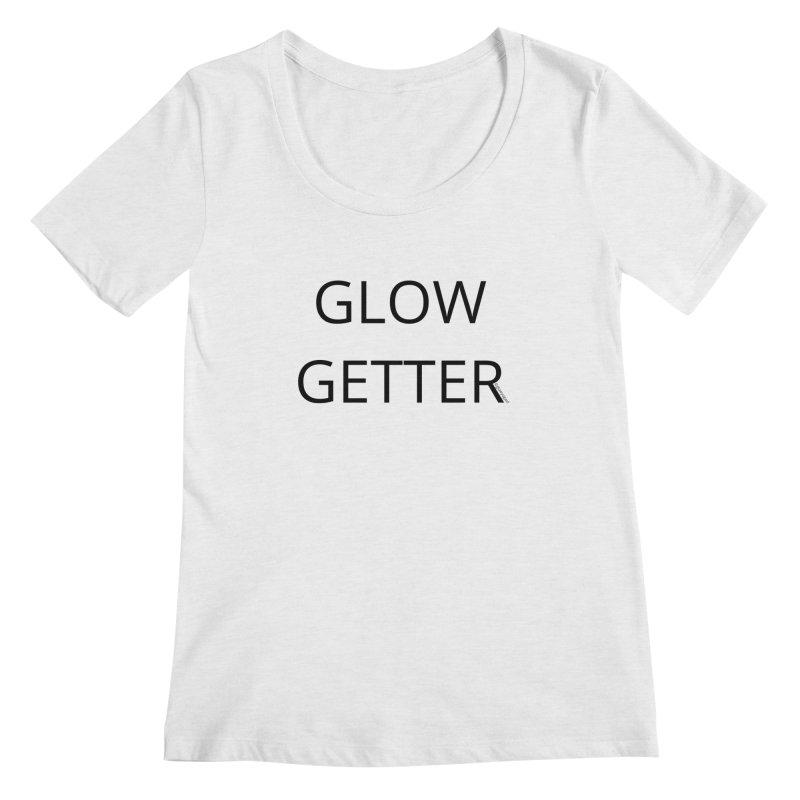 Glow Getter in Women's Regular Scoop Neck White Fleck Triblend by Glow-Getters Store