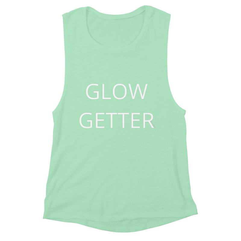 Glow Getter in Women's Muscle Tank Mint by Glow-Getters Store
