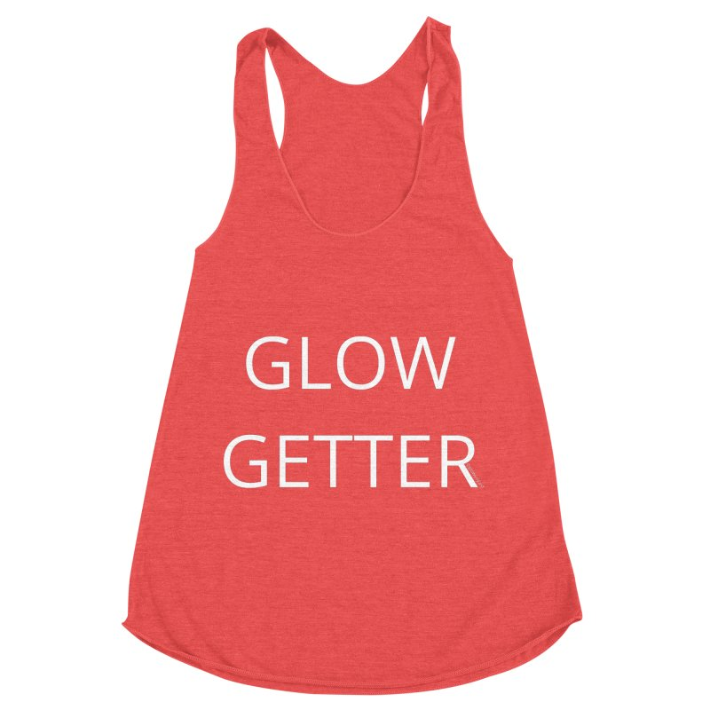 Glow Getter in Women's Racerback Triblend Tank Chili Red by Glow-Getters Store