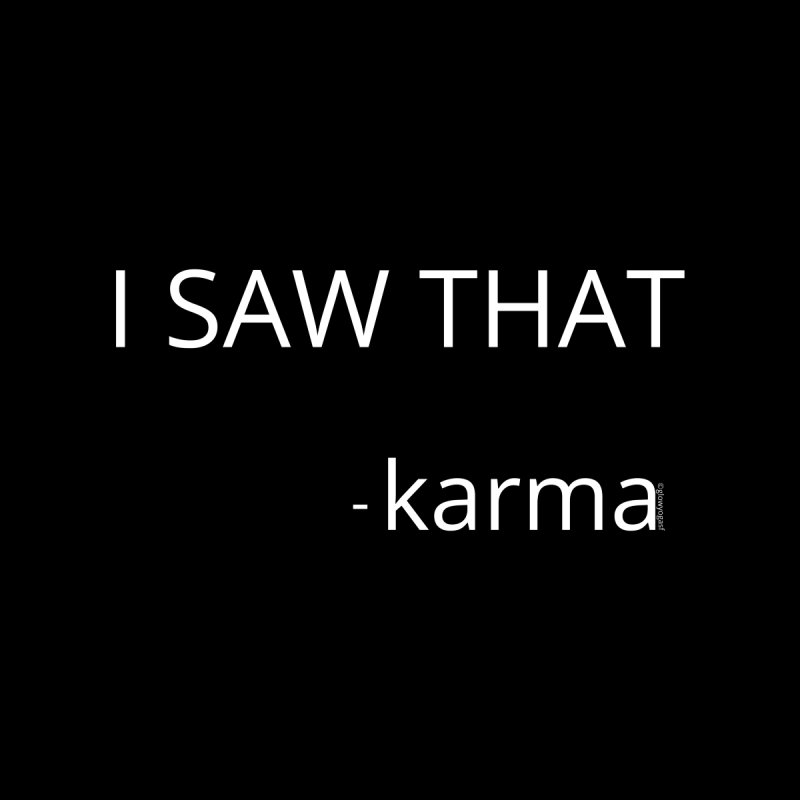 Karma Sees Everything Accessories Mug by Glow-Getters Store