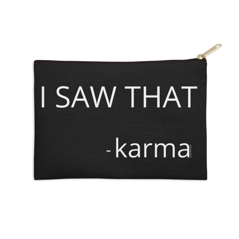 Karma Sees Everything Accessories Zip Pouch by Glow-Getters Store