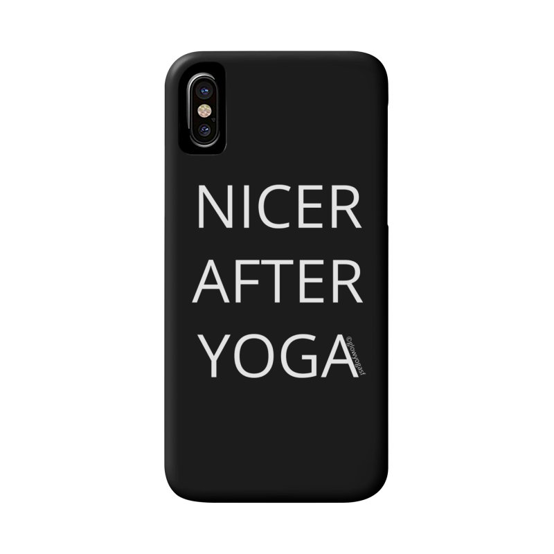NICER AFTER YOGA in iPhone X / XS Phone Case Slim by Glow-Getters Store