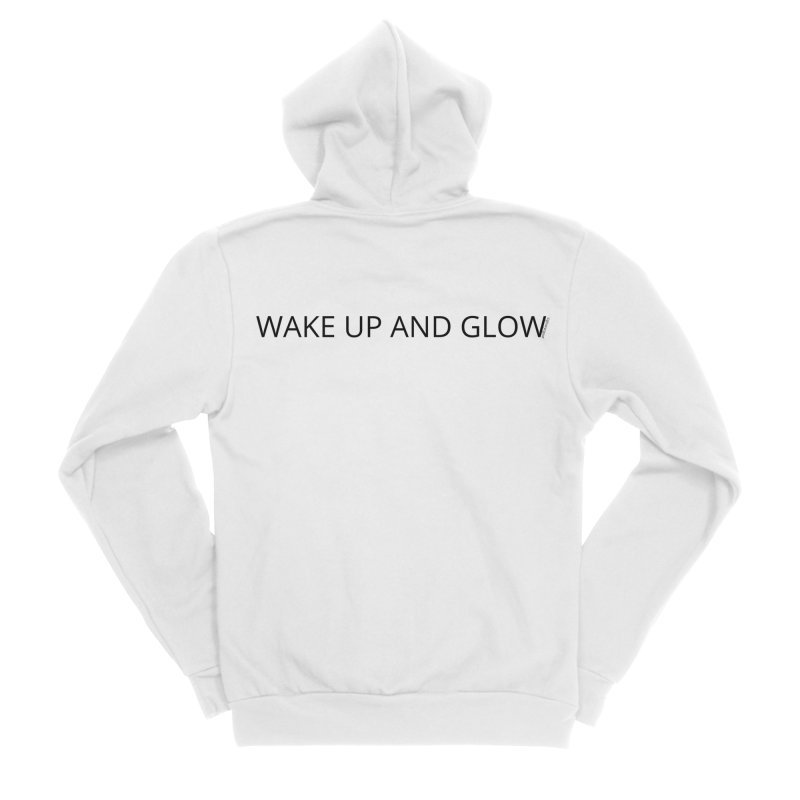 Wake Up & Glow Men's Sponge Fleece Zip-Up Hoody by Glow-Getters Store