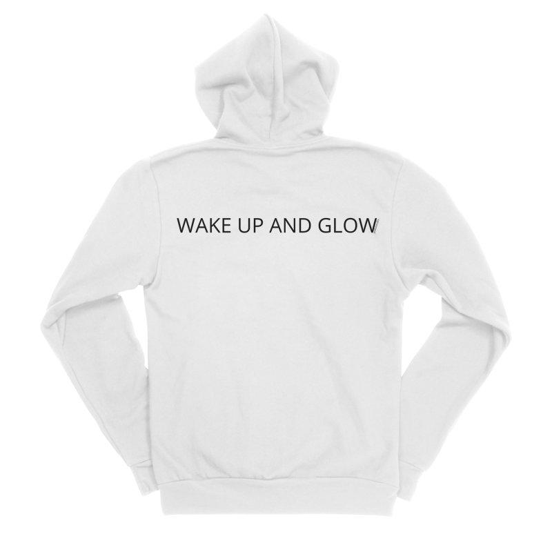 Wake Up & Glow Women's Sponge Fleece Zip-Up Hoody by Glow-Getters Store