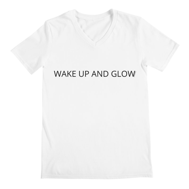 Wake Up & Glow Men's Regular V-Neck by Glow-Getters Store