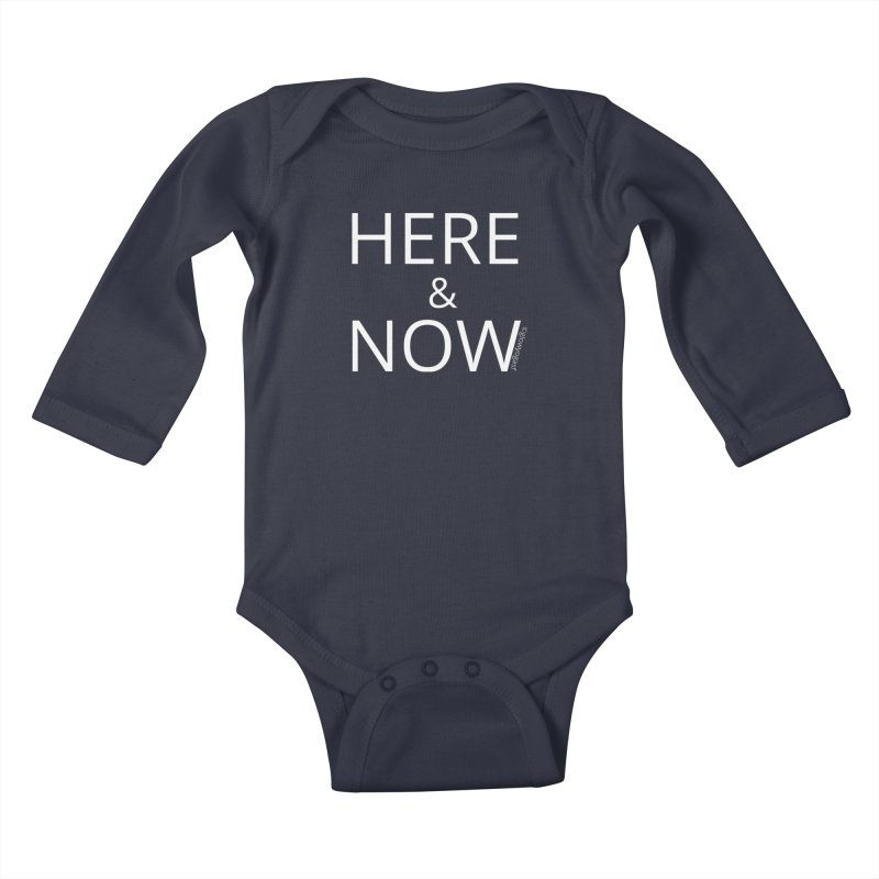 Here and Now Kids Baby Longsleeve Bodysuit by Glow-Getters Store