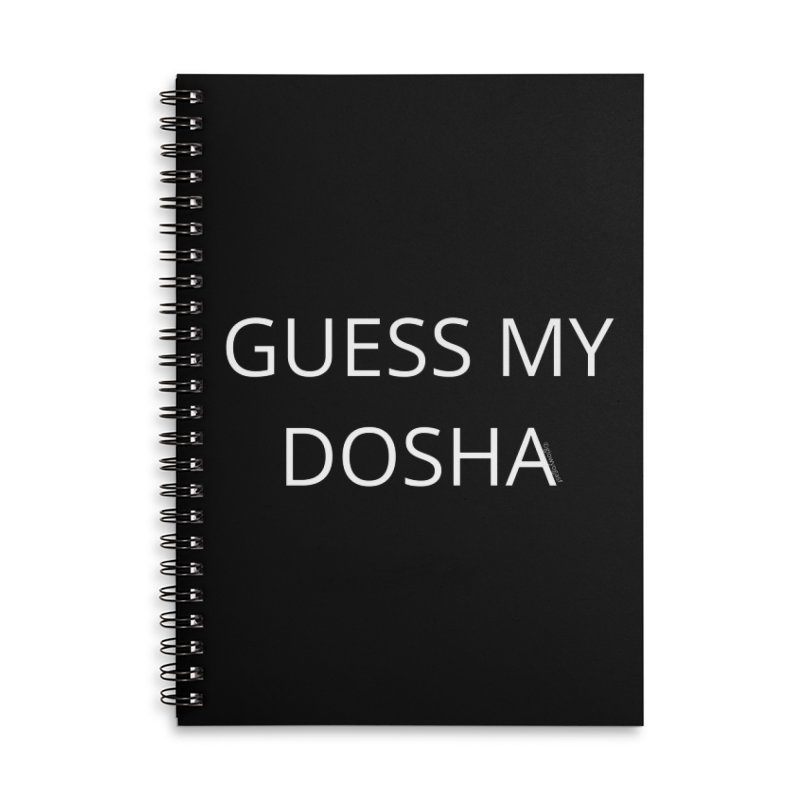 Guess My Dosha Accessories Lined Spiral Notebook by Glow-Getters Store