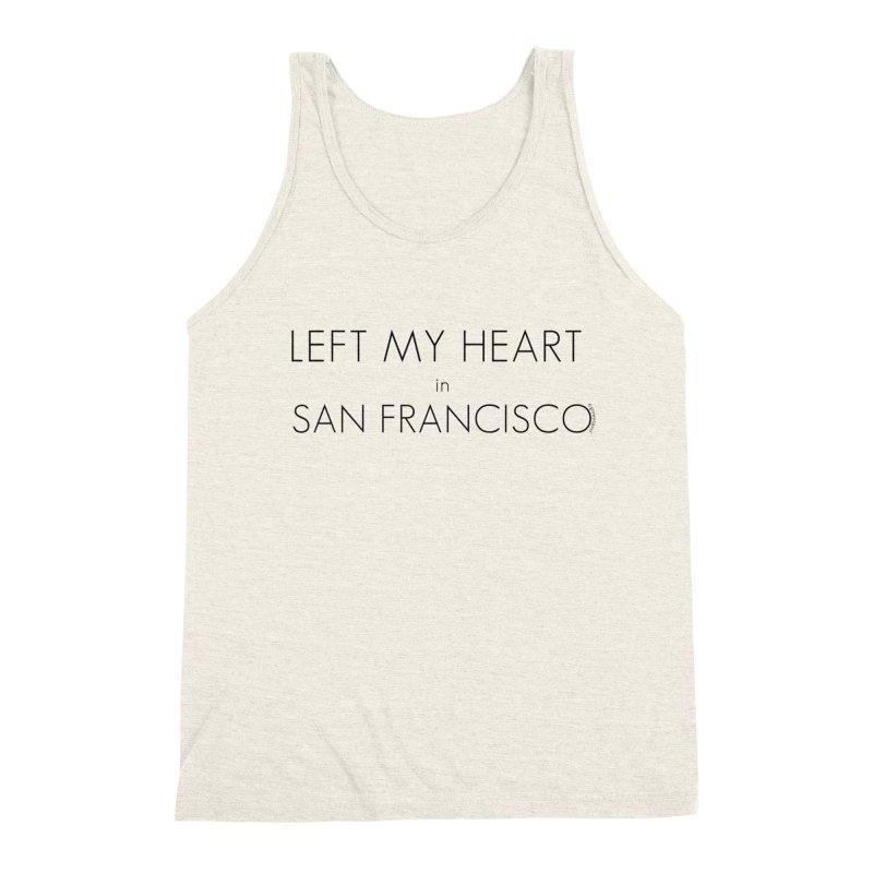 Left My Heart in San Francisco Men's Triblend Tank by Glow-Getters Store