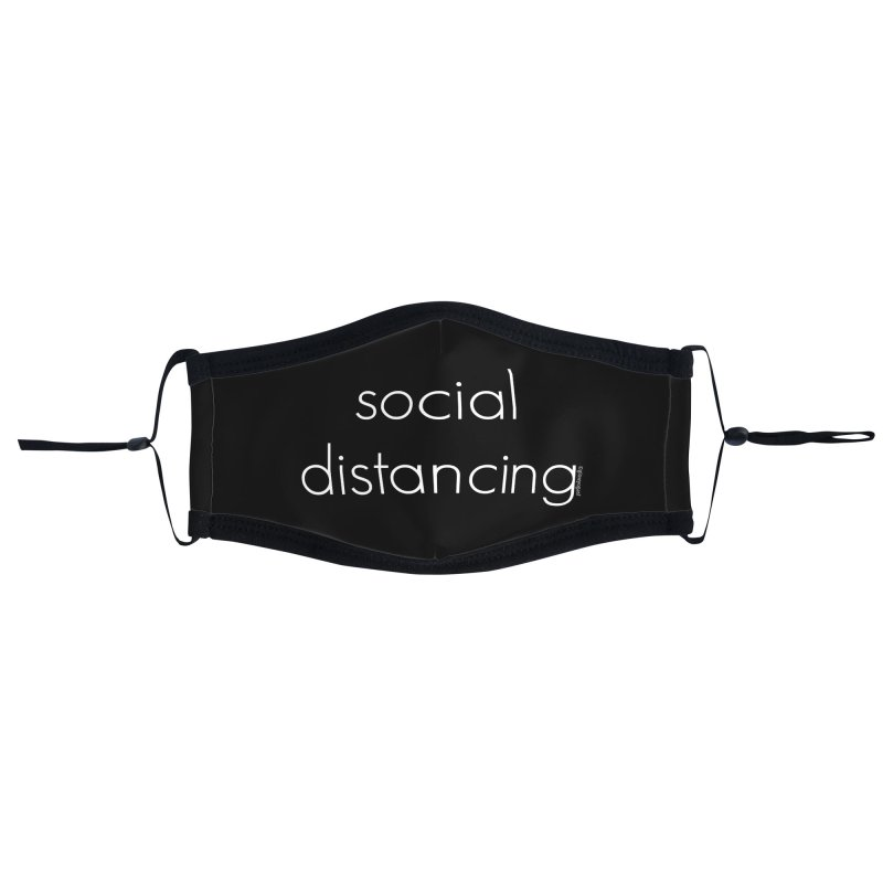 Social Distancing W Accessories Face Mask by Glow-Getters Store