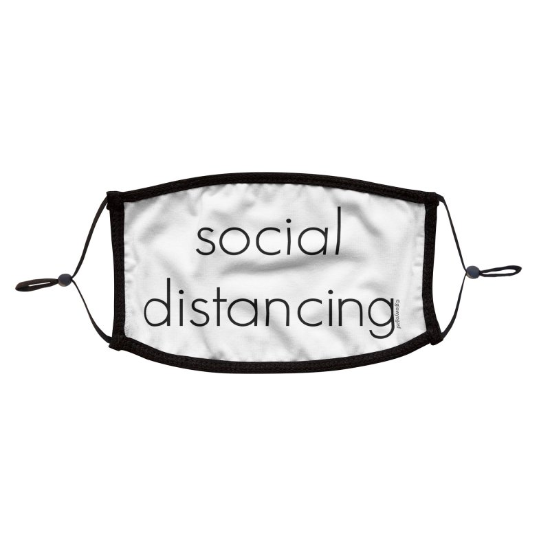Social Distancing B Accessories Face Mask by Glow-Getters Store