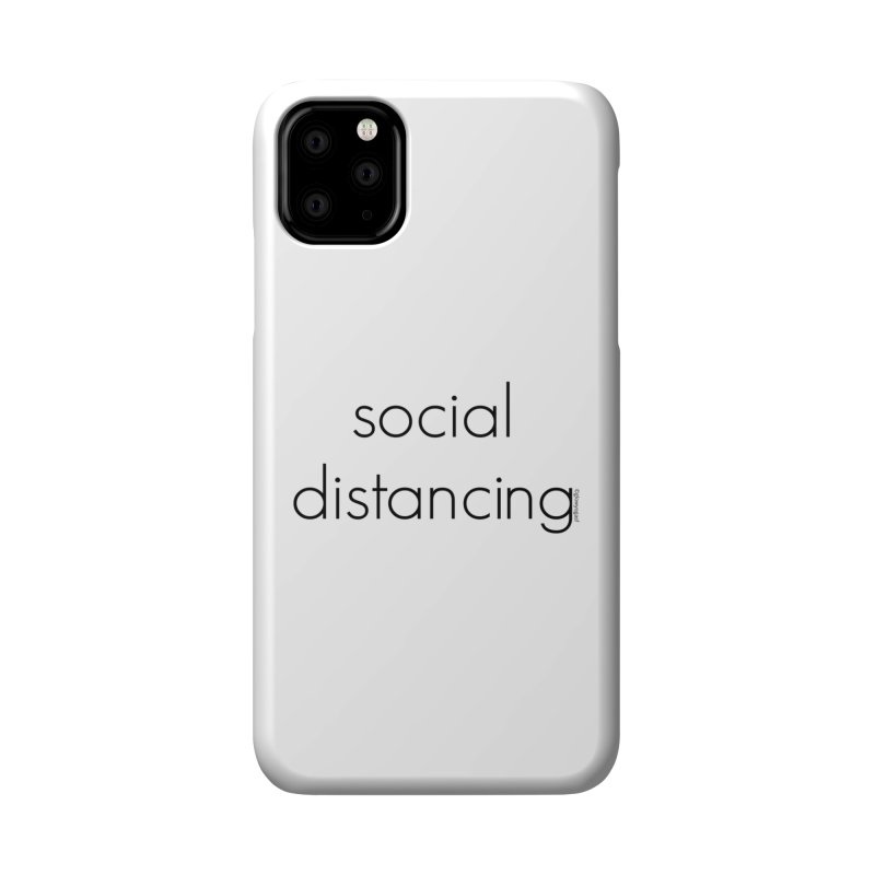 Social Distancing B Accessories Phone Case by Glow-Getters Store