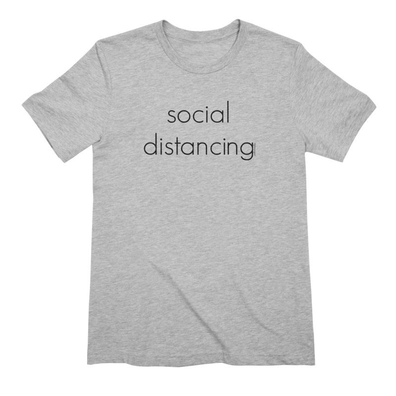 Social Distancing B Men's Extra Soft T-Shirt by Glow-Getters Store